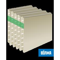 Пазогребневая плита ВОЛМА / Volma 667 х 500 х 100мм Полнотелая влагостойкая Пл ГН1 (37 кг/л) (24 шт/под)
