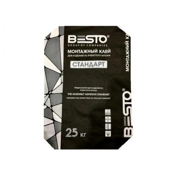 Клей монтажный BESTO / БЭСТО Стандарт (25кг)
