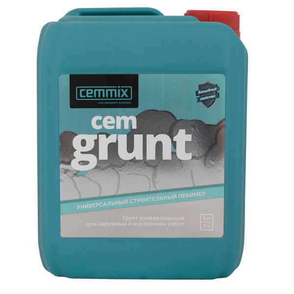 Грунтовка праймер CEMMIX CEMGRUNT (GRUNT) быстросохнущая универсальная 5л