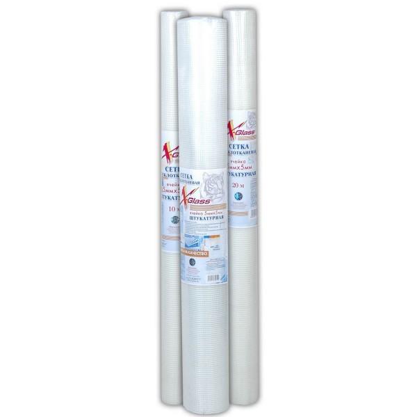 Сетка стеклотканевая для штукатурных работ ФасадПро 70гр/м2 5ммх5мм 50м