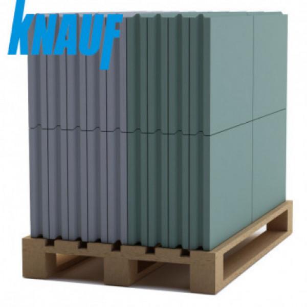 Пазогребневая плита КНАУФ полнотелая 667х500х80мм (27 кг/л) (30 шт/под)