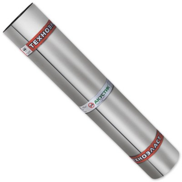 Шумоизоляция Техноэласт Акустик Супер 4 мм 1х10 м