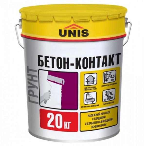Грунтовка Unis Бетон-Контакт (Бетоноконтакт) (20 кг / 20 л)