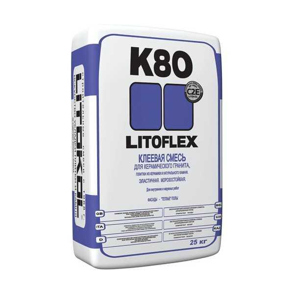 Клей для плитки и камня Litokol Litoflex K80 25 кг