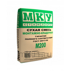 Смесь монтажно-кладочная МКУ М200 40кг