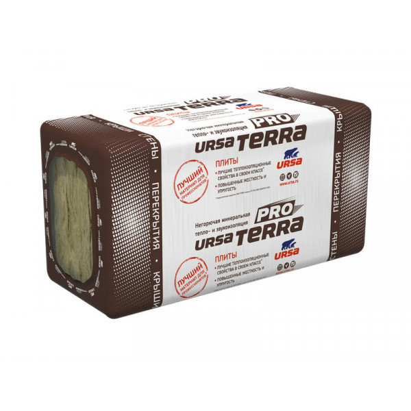 URSA Терра 37 PN  1250*610* 50 (15,25м2) (0,7625м3) (24шт/под)